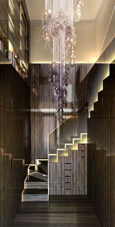 24 Best Modern Staircase Chandelier Images On