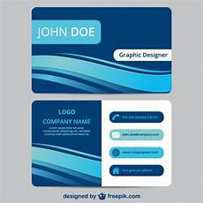 business card template blue blue business card template vector free