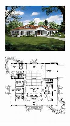 southwest house plans with courtyard southwest style house plan number 90268 with 3 bed 3 bath