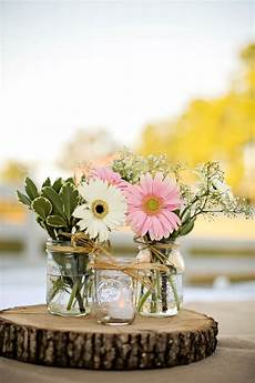gerber and baby s breath centerpieces