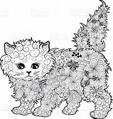 Malvorlagen Erwachsene Abstrakt Illustration Quot Kitten Quot Was Created In Doodling Style In