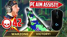 warzone aim assist not working is there aim assist on pc modern warfare warzone youtube
