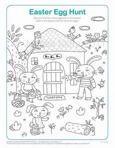 Easter Egg Hunt Coloring Sheets Items Similar To Easter Egg Hunt Coloring Printable On Etsy