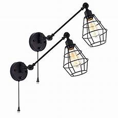 larkar dimmable wall l industrial plug in cage wall