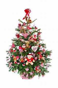 weihnachtsbaum rot silber geschmückt colorfully decorated isolated tree with