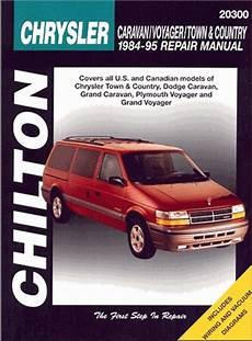 manual repair free 1995 chrysler town country auto manual caravan voyager town country repair manual 1984 1995 chilton