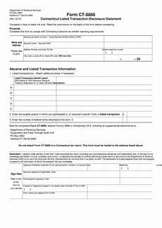 form ct 8886 connecticut listed transaction disclosure