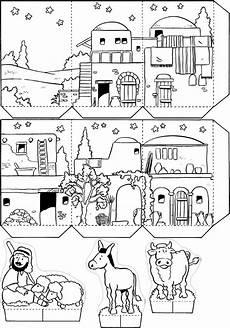 Ausmalbilder Umwelt Jesu Bethlehem1 Ethik Schule Weihnachten Und