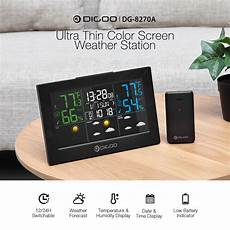 Digoo Th8622 Channels Color Screen Weather by Digoo Dg 8270a Ultra Thin Color Screen Weather Forecast