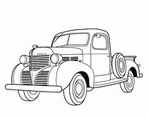 Dodge Pickup 1939 Antique Car Coloring Pages  Best Place