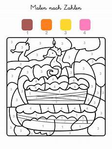 kostenlose malvorlage malen nach zahlen torte zum 3