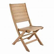 chaise pliante en bois balau avec ou sans
