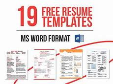 19 free resume templates download now in ms word behance