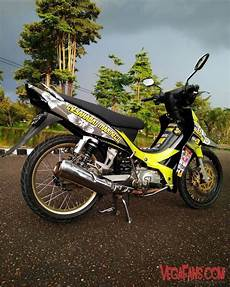 Jupiter Z Hitam Kuning Modif Road Race Simple