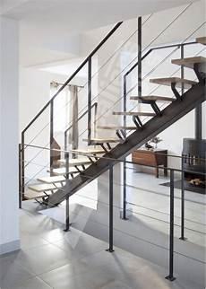 escalier droit design escalier droit m 233 tal et bois au design contemporain esca