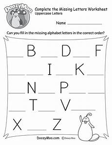initial letter worksheets 23150 complete the alphabet worksheet free printable doozy moo