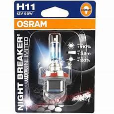 osram breaker unlimited h11 12v 55w pgj19 2