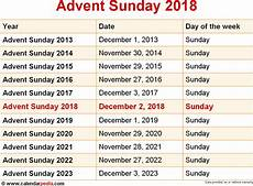 when is advent sunday 2018 2019 dates of advent sunday
