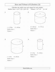 calculating surface area and volume of cylinders a
