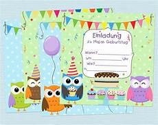 kindergeburtstag einladungen vorlagen kostenlos drucken