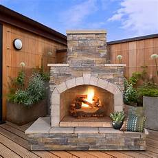 cal flame natural stone 78 in outdoor fireplace fireplaces chimineas at hayneedle