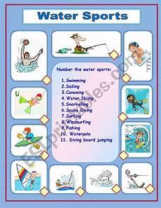 water sports activity worksheets 15751 water sports esl worksheet by mamidenacho