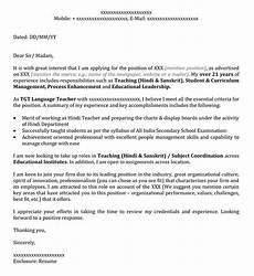 application letter for hindi teacher sle application letter for the of hindi teacher