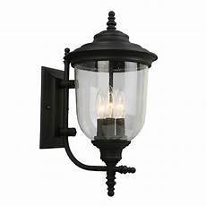 eglo pinedale 3 light matte black outdoor wall lantern