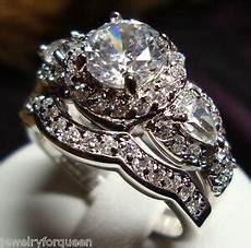 stunning cz vintage style engagement wedding rings size 5 to 10 ebay