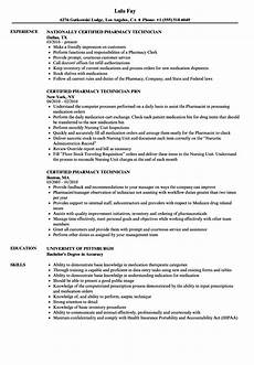pharmacy technician resume templatescoverletters com