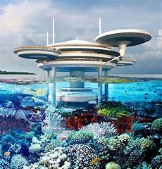 photos underwater hotel concept for great barrier