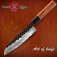 High Carbon Steel Kitchen Knives Santoku Knife Forged Kitchen Knives 7 Inch 3 Layers