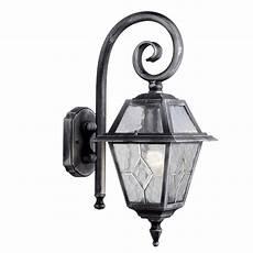 silver lantern wall light searchlight lighting 1515 genoa single light outdoor wall lantern in black silver finish