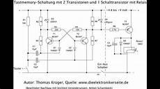 relais transistor tast memory schaltung