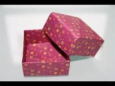 schachtel falten anleitung einfache origami box