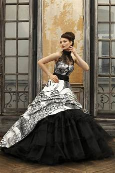the and sophisticated touches black wedding gowns godfather style