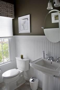 Wall Ideas For A Bathroom by Bathroom High Contrast Powder Room Walls White
