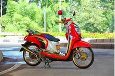 Modifikasi Motor Scoopy by Modifikasi Motor Scoopy Velg 17