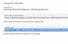 how to add my google calendar to a web form