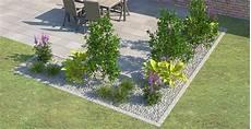 terrassenumrandung mit pflanzen beeteinfassung terrassenumrandung setzen landscaping