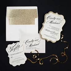 Gold Sparkle Wedding Invitations