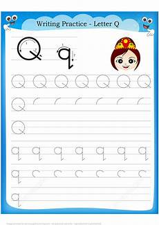 letter q handwriting worksheets letter q is for queen handwriting practice worksheet