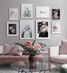 gallery flower wall ideas gallery wall with a quote and pink flowers in pink nuances