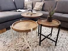 beistelltisch wohnzimmer tisch rund omaha metall gestell