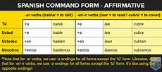 spanish commands how to form and use them with your crew
