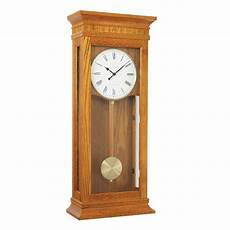 tall pendulum oak white dial westminster chime