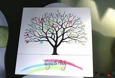 arbre à empreintes sur toile cr 233 er un arbre 224 empreinte de mariage sur toile