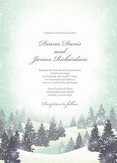 Winter Wedding Invitation Templates winter wedding invitation template can also be