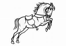 malvorlage springendes pferd ausmalbild 10361