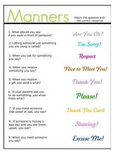 manners good for elementary kids social communication skills career pinterest manners